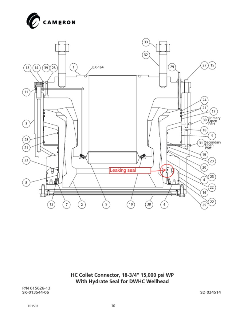 HC Collet Connector Diagram