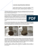 Antiwashout Admixtures for Underwater Concrete