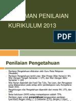 Pedoman Penilaian Pada Kurikulum 2013