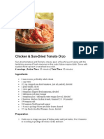 Chicken & Sun-Dried Tomato Orzo