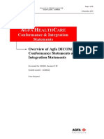 Overview of Agfa DICOM & HL7 Conformance Statements and IHE Integration Statements