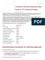 Recommended Process for Efficientlyocument Approvals for CIT & Divisional Projects