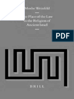 The Place of the Law in the Religion of Ancient Israel - Moshe Weinfeld