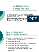Impact of Globalization to the Poor
