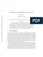 Geoneutrino and Hydridic Earth Model