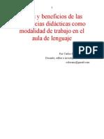 Secuencia Didactica Sd Retos y Beneficios Carlos Sanchez