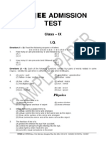 Class 9 Sample Paper-2010