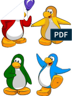 Pinguinos de Colores Para Las Mesas