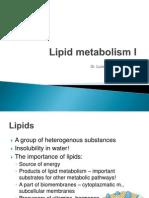 Lipid Metabolism I