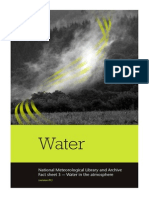 National Meteorological Library and Archive Fact sheet 3 — Water in the atmosphere