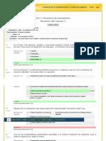 Act 1. Revisión de Pre saberes INTRODUCCIÓN A LA PROBLEMÁTICA Y ESTUDIO DEL AMBIENTE