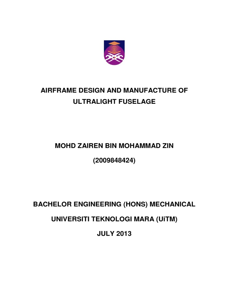 Degree Fyp Thesis Strength Of Materials Flight Instructor