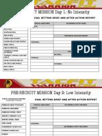 02 Pre-Recruit Mission Calendar