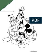 Planse de Colorat Mickey