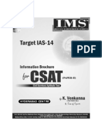 CSAT Information Brochure for Hyderabad Coaching Institute