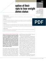 Patient perception of their weight, attempts to lose weight and their diabetes status