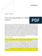 From Knowing Bodies to Global Knowledge Systems