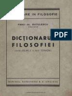 Fanu Dutulescu,Dictionarul filosofiei (Întelesurile a 1300 termeni),Craiova,1945.