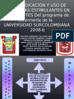 Automedicacion y consumo de sustancias estimulantes estudiantes enfermeria Universidad Surcolombiana Neiva, Huila, Colombia