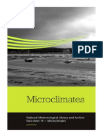 National Meteorological Library and Archive Fact sheet 14 — Microclimates