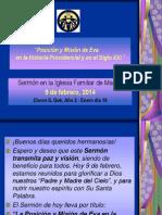 """""""La Posicion y Mision de Eva en la Historia Providencial y en el Siglo XXI."""""""