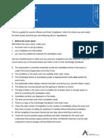 Checklist for Invigilators