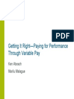 Getting It Right Variable Compensation