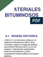 8.-  Materiales bituminosos