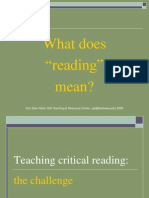 Teach Crit Reading