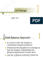 Equations of Change ChE 131