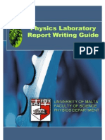 Physics Lab Report Writing Guide