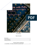 Artists With PhDs Table of Contents