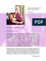 Discurso de Aceptación del Premio Nobel de la Paz - Dalai Lama