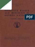 Georgiade Constantin, Originile magice ale minciunii şi geneza gândirii
