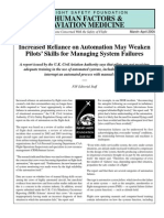 Flight Safety Foundation - Pilot Skills Weakening Due to Reliance on Automation