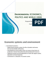 Environmental Economics, Politics and World Views