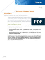 Gartner 2011 MQ Social Software in the Workplace