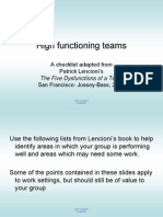 High Functioning Teams
