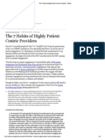 The 7 Habits of Highly Patient Centric Providers - Forbes