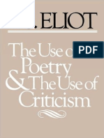 Eliot - The Use of Poetry and the Use of Criticism