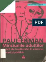 Ekman Paul, Minciunile Adultilor