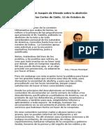 Discurso de José Joaquín de Olmedo sobre la abolición de las Mitas en las Cortes de Cádiz