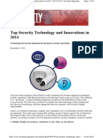 Top Security Technology 2014