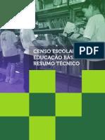Resumo Tecnico Censo Educacao Basica 2012
