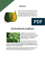 CHAMPÚ CASERO DE PALTA