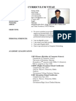 sample cover letter for a cv