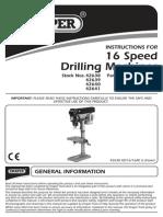 Draper 42641 Drill Manual