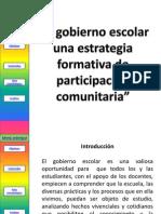 El Gobierno Escolar Una Estrategia Formativa de Partcipacic3b3n Comunitaria