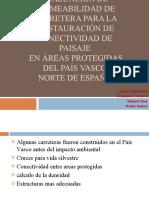 evaluación de permeabilidad de carretera, conectividad de paisaje presentacion