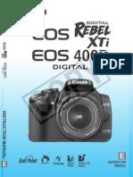 Canon Rebel XTi Manual